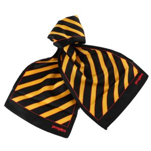 New Silk Printed Logo Scarf Yello Stripes Custom Stylish Office Scarf Hand Made pictures & photos