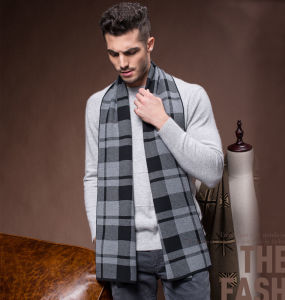 Men Fashion Winter Wool Polyester Nylon Acrylic Knitted Scarf (YKY4601) pictures & photos