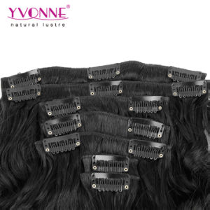 Brazilian Loose Wave Clip in Hair Extensions Human Hair pictures & photos