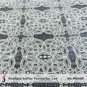 Cotton Geometric Big Pattern Raschel Lace Fabric (M3405) pictures & photos