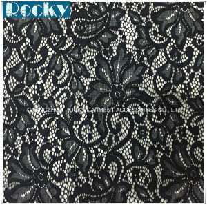 Hot Sale Flower Fashion Lycra Lace Elastic Fabric Lace