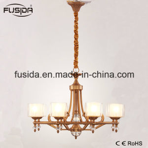 New Modern Crystal Glass Matt Bronze Chandelier Hotel Pendant Light for Living Room pictures & photos