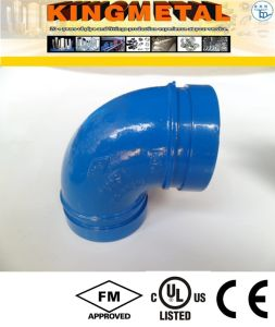 Casting Ductile Iron 90 Degree Grooved Elbow Fittings pictures & photos