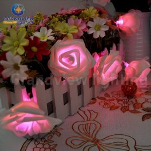 Pink LED 3 Meter 20 LED Rose Flower String Lights LED Wedding Party Decoration and Xmas Gift pictures & photos