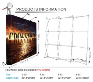 Magnetic Banner Stand Aluminum Pop up Display (LT-09L-A) pictures & photos