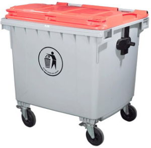 4 Wheeleers 1100lt Plastic Outdoor Waste Container pictures & photos