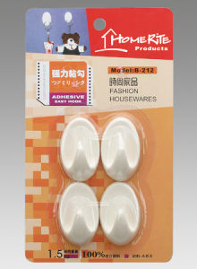 Plastic Adhesvie Hook (HK002) for Household Products