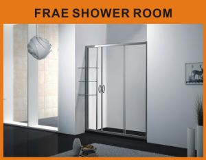 Aluminum Alloy Frame Tempered Glass Free Standing Shower Screen / Bath Door pictures & photos