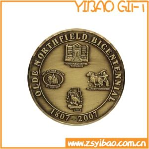 High Quality Metal Souvenir Brass Coin for Anniversary (YB-c-018) pictures & photos