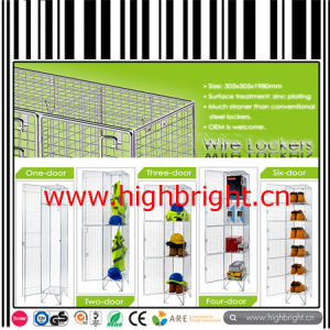 Foldable Metal Wire Mesh Grid Wheeled Rolling Pallet Cage pictures & photos