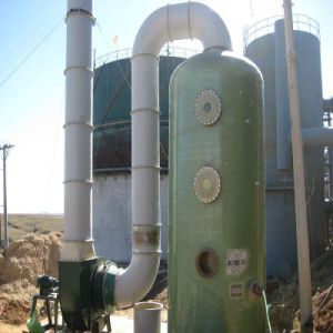 Fiberglass Wet Purification Gas Scrubber Tower for Water Air Cleaning pictures & photos
