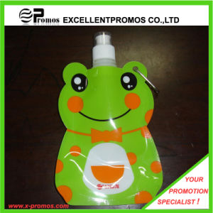 Customized Foldable Plastic Water Bottle with Stainless Steel Ring (Ep-B125516) pictures & photos