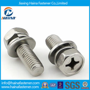 Combined Bolt / Phillips Hex Head Bolt with Nut and Washer pictures & photos