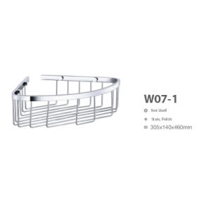 Bathroom Set Stainless Steel Wall Net Shelf (W07-1) pictures & photos