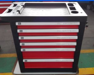 7 Drawers Germany Design Kraft Welle Rotary Car Repair Trolley Tool Cabinet pictures & photos