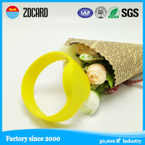 Custom Printed Trading NFC Wristband with Plastic pictures & photos