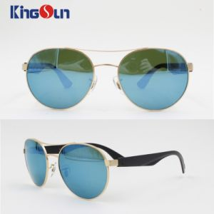 Round Shape Metal Sunglasses with Mirror Lens Ks1140 pictures & photos