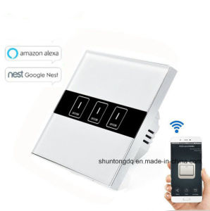 wifi smart switches eu type works with echo alexagoogle home 3 gang wireless wifi control light switch wall touch switch app phone remote control