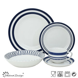 30PCS Porcelain Dinner Set with Geometrical Decal Design pictures & photos