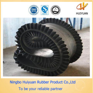 Corrugated Sidewall Rubber Conveyor Belt (ISO Certified) pictures & photos