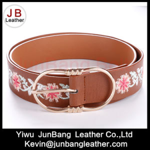 Fashion Women′s PU Embroiders Belts