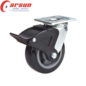 6inches Heavy Duty Rotating Caster with Black PU Wheel pictures & photos