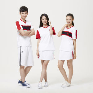 Cheap Sport Suit Fashion Cotton Shool Uniform pictures & photos