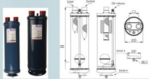 Sealed and Flanged Oil Separator for Refrigeration System pictures & photos