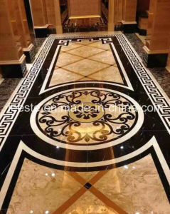 Marble Stone Polished of The Waterjet Patterns Flooring Tiles pictures & photos