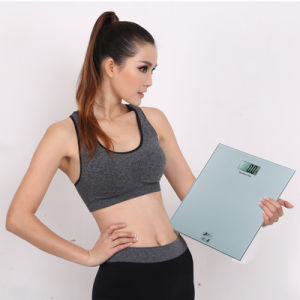 200kg Slim Design 8mm Glass Electronic Body Health Scale pictures & photos
