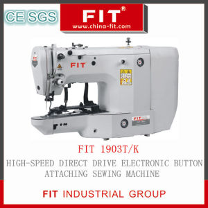 High-Speed Direct Drive Electronic Button Attaching Sewing Machine (FIT1903T/K) pictures & photos
