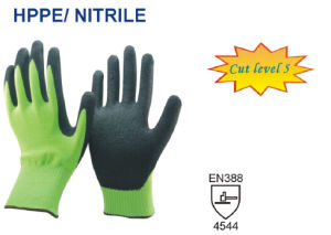 13 Guage Green Nylon Cut Proof Gloves pictures & photos