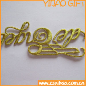 Custom Letter Patch with Gold Line (YB-pH-67) pictures & photos