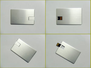 High Quanlity Aluminum Wafer Credit Card USB Pen Drive in 8GB, 16GB, 32GB pictures & photos