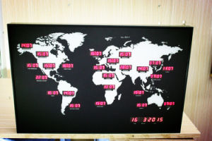 LED World Time Clock pictures & photos