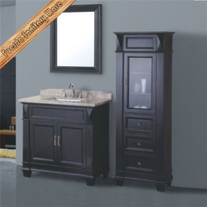 Classical Solid Wood Bathroom Vanity Cabinet pictures & photos