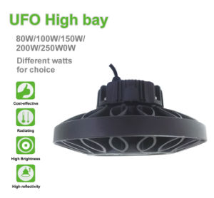2017 New Product Industrial Lighting 100W 150W 200W Luminaire Philips 3030 SMD UFO LED High Bay pictures & photos