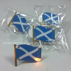 Flashing LED Light-up Magnet Pin with Logo Printed (3569)