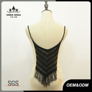 Women Fringe Contrast Slim Fit Crop Knitwear pictures & photos