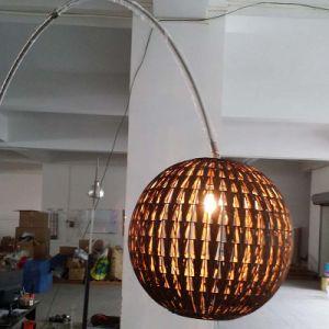Chinese Style Bronze Rattan Lantern Fish Lighting Floor Lamp pictures & photos