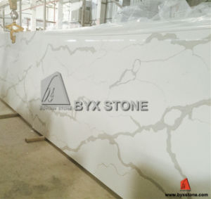 Artificial White Quartz Slab for Countertop/Kitchen Top pictures & photos