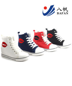 Women Lady Fashion Casual White Black Canvas Popular Shoes (bfm376) pictures & photos