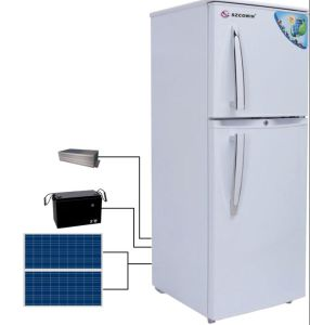Solar Power Energy 138L Free Standing Double Door Solar Refrigerator pictures & photos