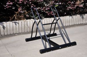 Two-Bike Floor Portable Bike Rack pictures & photos