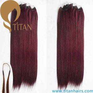 China 530 purple red color cotton thread hair extension with two 530 purple red color cotton thread hair extension with two strands pmusecretfo Gallery