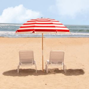 Frankford Umbrella 7.5 FT. Commercial Grade Beach Umbrella with Marine Grade Fabric and Ashwood Pole pictures & photos