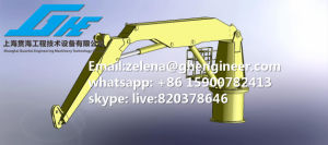 API-2c Standard ABS Certificate 100t10m Knuckle Boom Crane in Stock pictures & photos