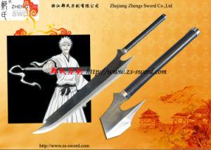 New Version Ichigo Tensa Zangetsu Full Tang Sword Cosplay