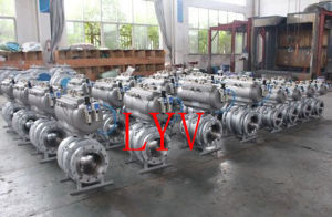 Pneumatic Steel V Type Ball Valve pictures & photos