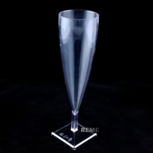 Tableware Plastic Cup Square Bottom Champagne Glasse pictures & photos